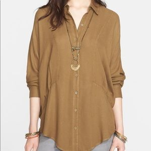 Free people true affection oversize collared top